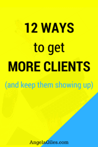 12 Ways to get More Clients and keep Showing Up. Starting your own business is fun! But when rubber hits the road and getting clients to keep your doors open now that can be stressful. In today?s blog post, I am going to share with you 12 powerful strategies that help you get more clients. In fact, if you want to be solidly booked, then you have landed in the right spot